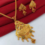 Halltree Gold Plated Necklace Set with Earrings 2