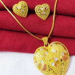 Halltree Gold Plated Pendent Set with Earrings 1