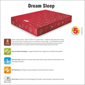 "Kurlon Mattresses Kurlon Dreamsleep Bonnel Spring Mattress 6"" With 5 Years Warranty 72*72 6"