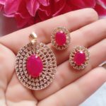 Halltree AD Pendent Set with Earrings 2