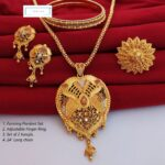 Halltree Rani haar necklace Set with Earrings 2